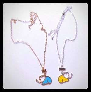 Jewelry - Best friends elaphant necklaces